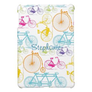 Modelo brillante del neón del color de la biciclet iPad mini cobertura