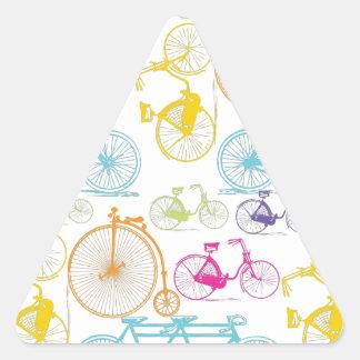 Modelo brillante del neón del color de la biciclet pegatinas trianguloes