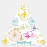 Modelo brillante del neón del color de la pegatinas trianguloes