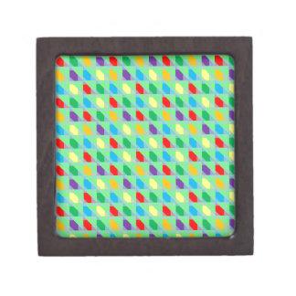 Modelo brillante del triángulo de los colores cajas de recuerdo de calidad