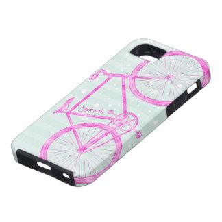 Modelo brillante rosado Iphone 5 de la bici de los iPhone 5 Protectores