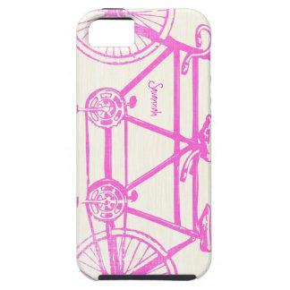 Modelo brillante rosado Iphone 5 de la bici de los iPhone 5 Cobertura