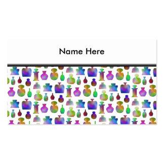 Modelo brillante y colorido de las botellas de tarjetas de visita
