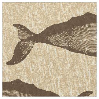 Modelo Brown de la ballena del vintage Telas
