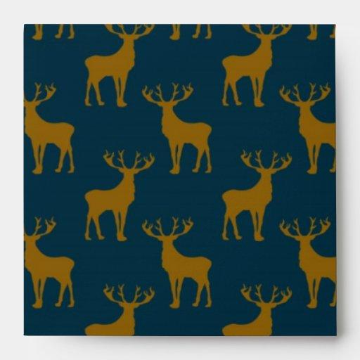 Modelo Brown de los ciervos y azul Sobre