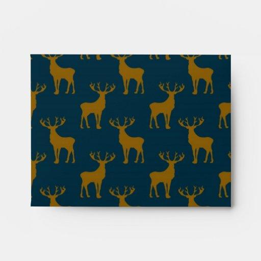 Modelo Brown de los ciervos y azul Sobres