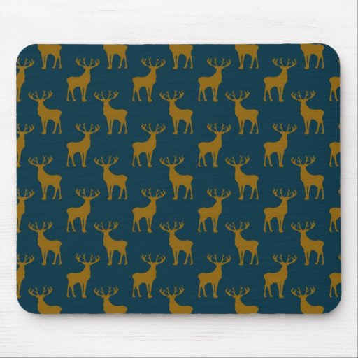 Modelo Brown de los ciervos y azul Tapetes De Raton