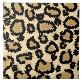 Modelo, Brown y negro del estampado leopardo Tejas Ceramicas