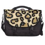 Modelo, Brown y negro del estampado leopardo Bolsas De Ordenador