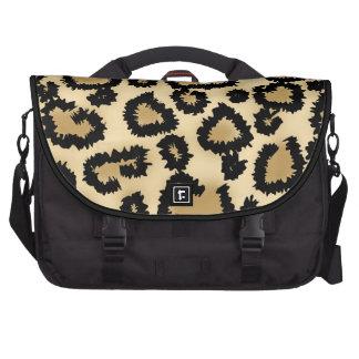Modelo Brown y negro del estampado leopardo Bolsas De Ordenador