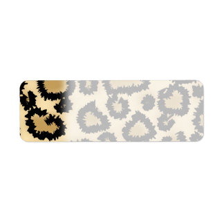 Modelo, Brown y negro del estampado leopardo Etiqueta De Remite