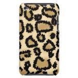 Modelo, Brown y negro del estampado leopardo Barely There iPod Protector
