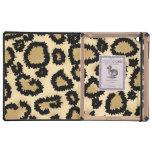 Modelo, Brown y negro del estampado leopardo iPad Funda