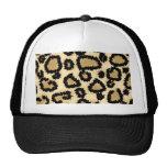 Modelo, Brown y negro del estampado leopardo Gorras De Camionero