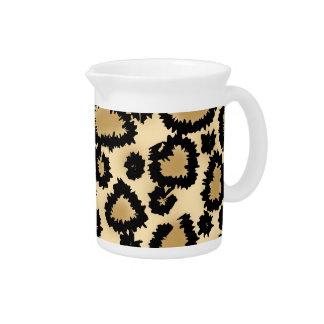 Modelo Brown y negro del estampado leopardo Jarra Para Bebida