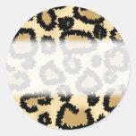 Modelo, Brown y negro del estampado leopardo Pegatina
