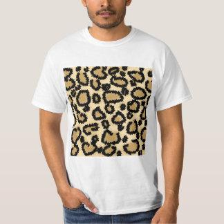Modelo, Brown y negro del estampado leopardo Playera