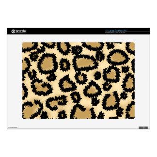 Modelo, Brown y negro del estampado leopardo Portátil 38,1cm Skins