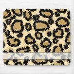 Modelo, Brown y negro del estampado leopardo Alfombrillas De Ratones
