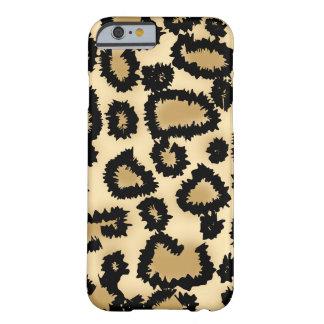 Modelo, Brown y negro del leopardo Funda De iPhone 6 Barely There