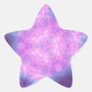 Modelo caleidoscópico de las gemas del espacio pegatina en forma de estrella