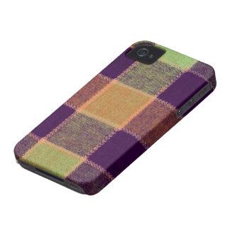 Modelo caliente acogedor de la tela escocesa Case-Mate iPhone 4 cobertura