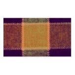 Modelo caliente acogedor de la tela escocesa plantilla de tarjeta de negocio