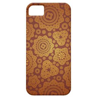 Modelo caliente de Paisley del oro iPhone 5 Carcasas