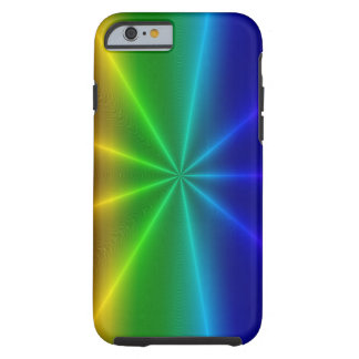 Modelo calificado del arco iris funda para iPhone 6 tough