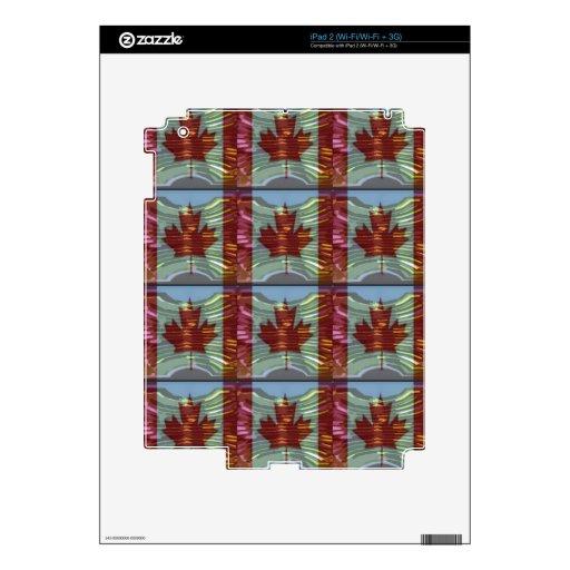 Modelo CANADIENSE ORGULLOSO de la HOJA DE ARCE Calcomanías Para iPad 2