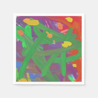 Modelo caótico colorido abstracto servilletas desechables