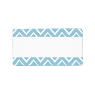 Modelo caprichoso azul claro del galón del zigzag etiquetas de dirección