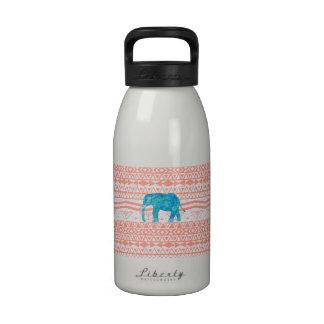 Modelo caprichoso del Azteca del rosa del elefante Botella De Beber