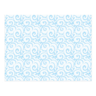 modelo caprichoso del azul de cielo tarjeta postal