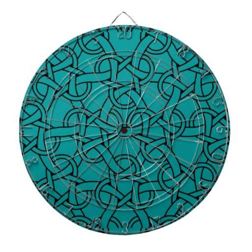 Modelo caprichoso del Celtic de la turquesa Tablero De Dardos