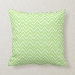 Modelo caprichoso verde claro del galón del zigzag almohadas