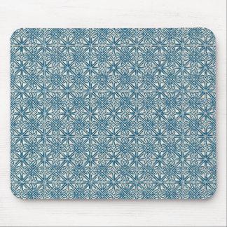 Modelo céltico del azul del trullo del nudo tapete de ratones