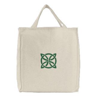 Modelo céltico verde del diseño 3 de Knotwork del  Bolsa