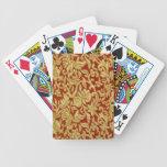 Modelo chino del rojo y del oro barajas de cartas