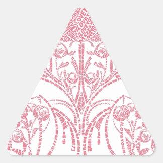Modelo chino pegatina triangular