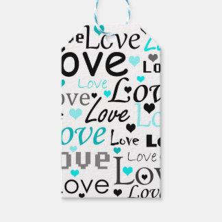 Modelo ciánico del amor etiquetas para regalos