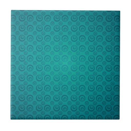 modelo ciánico retro del círculo azulejo cuadrado pequeño