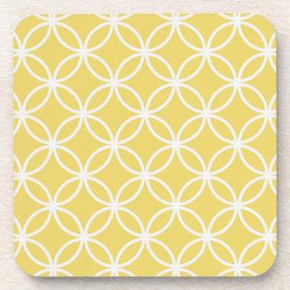 Modelo circular amarillo posavaso