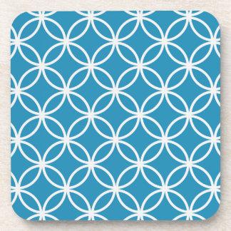 Modelo circular azul posavasos