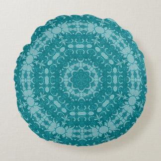 Modelo circular azul viejo cojín redondo
