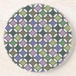 Modelo circular en colores en colores pastel posavasos manualidades