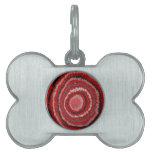 Modelo circular rojo del diseñador placa de mascota