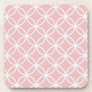 Modelo circular rosado posavasos