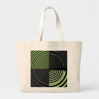Modelo circular verde y negro de plata del laberin bolsas
