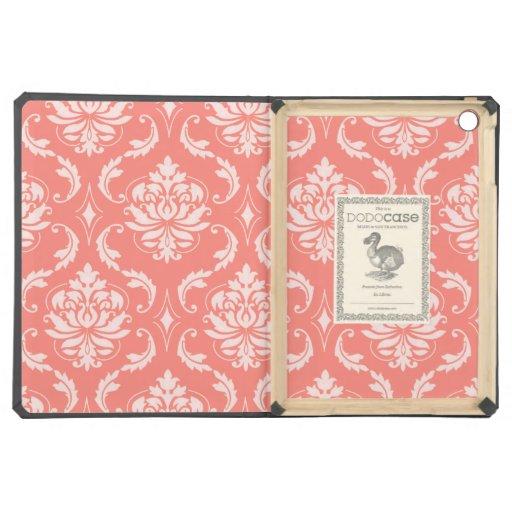 Modelo clásico blanco rosado coralino del damasco
